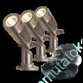 Kép 1/6 - MINUS 12V 2 W LED SPOTLÁMPA SET